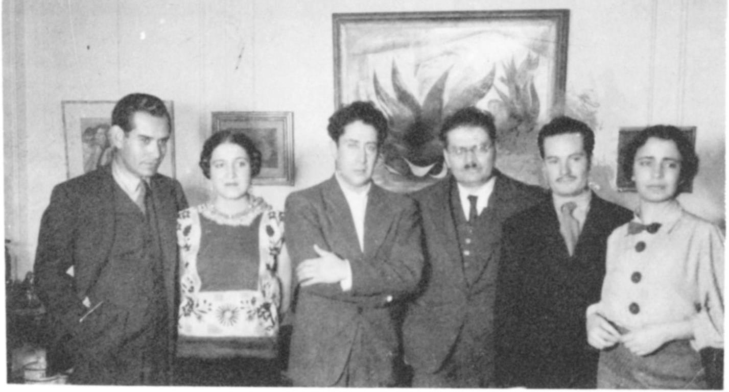 Delegacja meksykańska na zjeździe American Artists' Congress, 1936