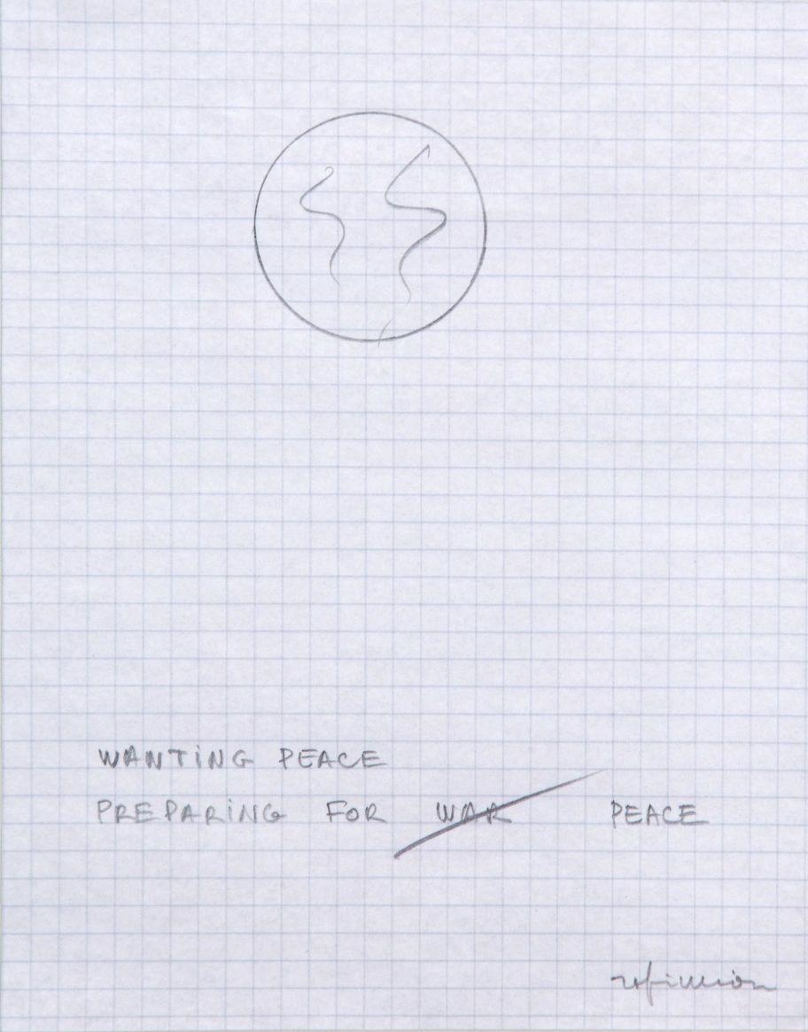 Robert Filliou, Wanting Peace Preparing for Peace, 1985