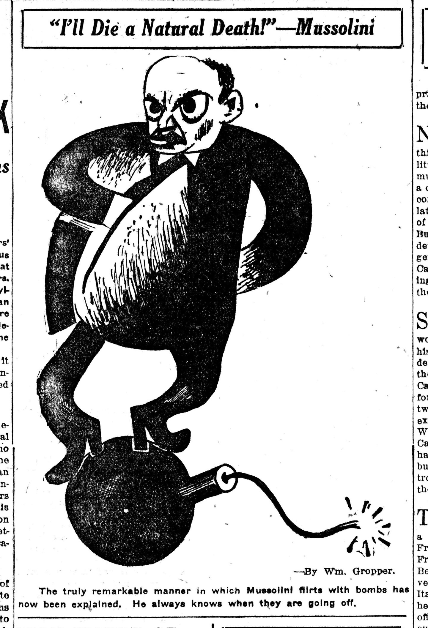 "William Gropper, karykatura z pisma ""Daily Worker"", lata 20. XX wieku / caricature published in ""Daily Worker"", 1920's"
