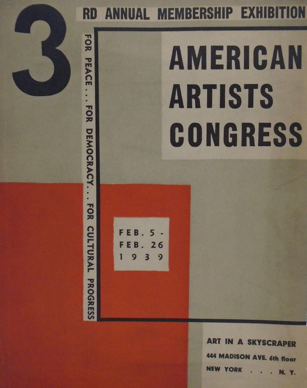 Plakat promujący trzecią doroczną wystawę AAC, 1939 / Poster promoting the third annual exhibition of AAC, 1939
