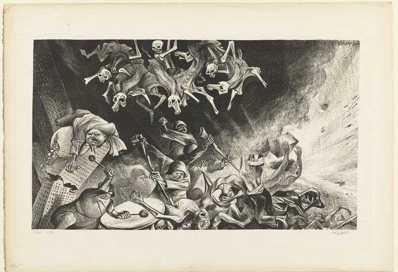 Wiliam Gropper, War, 1950