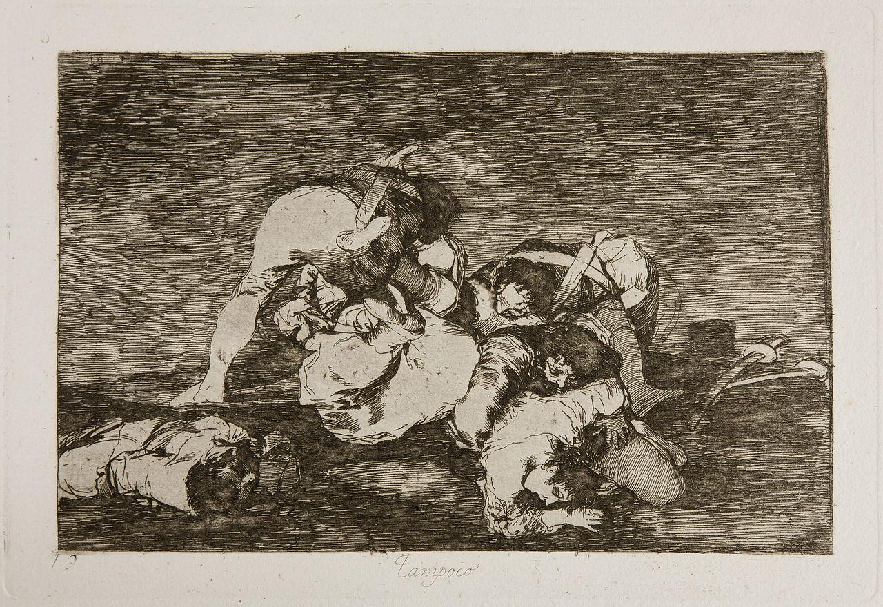 Francisco Goya, cykl Okropności wojny, Też nie / from the The Disasters of War series, 1815