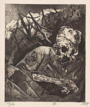 Otto Dix, cykl Wojna / War series, 1924