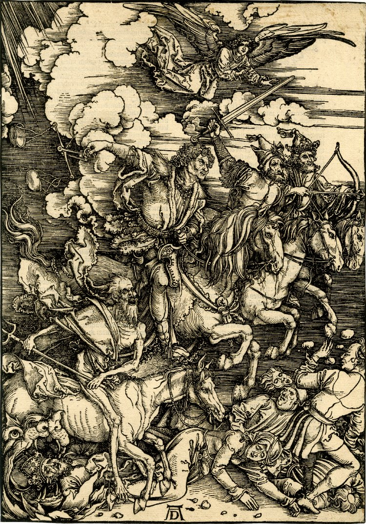 Albrecht Dürer, Czterej jeźdźcy apokalipsy / The Four Horsemen, from The Apocalypse, 1497-98