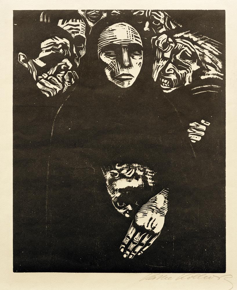 Käthe Kollwitz, cykl Wojna, Lud / War series, 1922