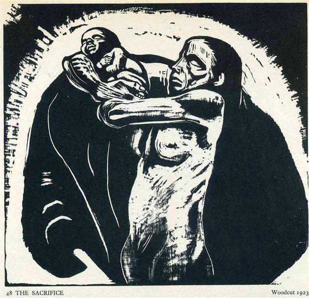 Käthe Kollwitz, cykl Wojna, Ofiara / War series, 1922