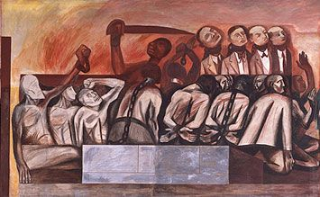 José Clemente Orozco, The Struggle in The Occident, fresk w NSRS / fresco in NSRS, 1931