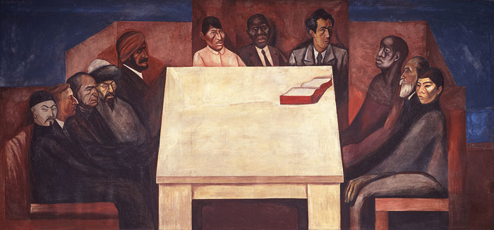 José Clemente Orozco, The Table of Universal Brotherhood, fresk w NSRS / fresco in NSRS, 1931