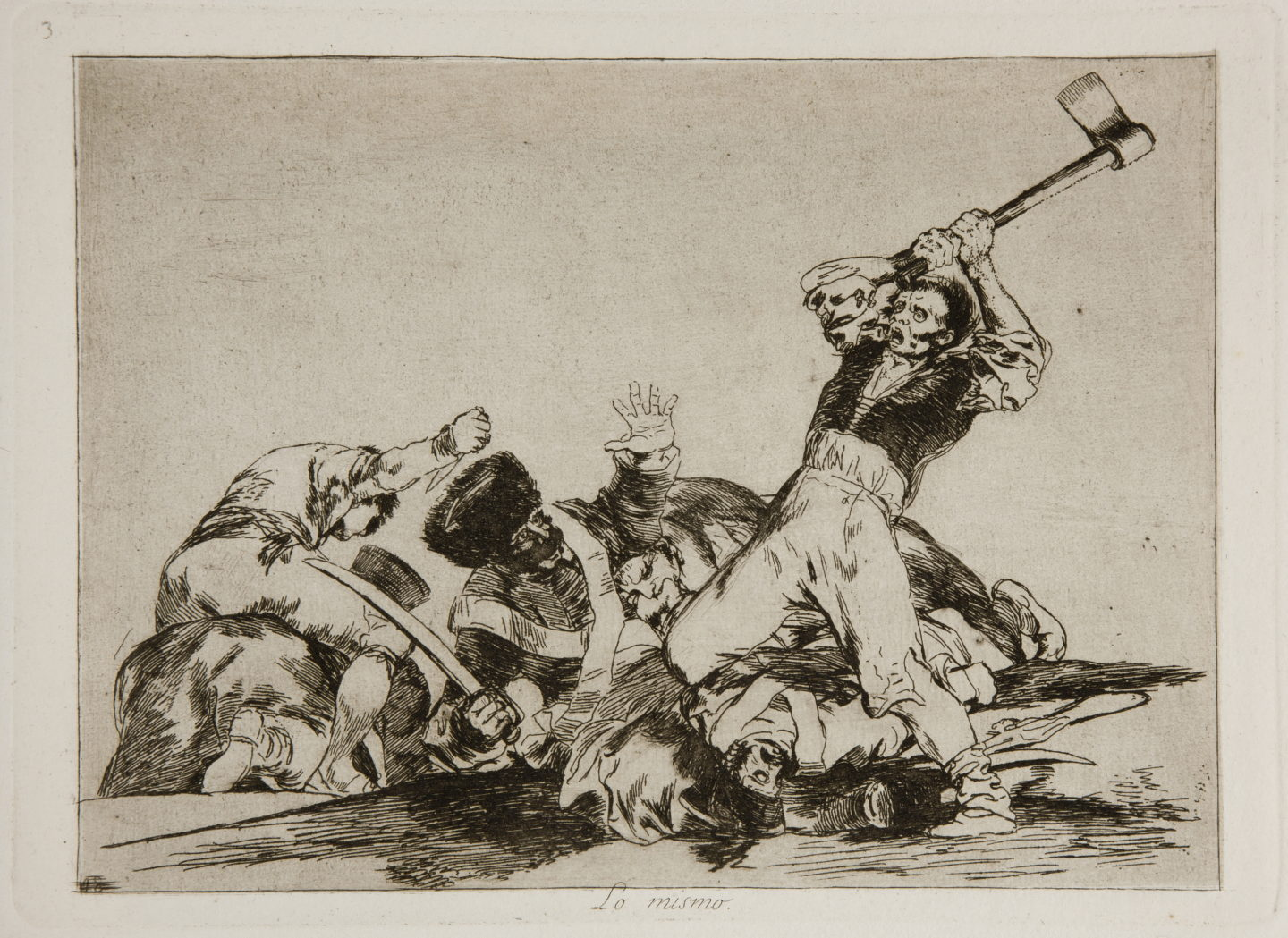 Francisco Goya, cykl Okropności wojny, To samo / from the The Disasters of War series, 1815