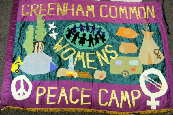 Baner projektu Thalii Campbell, archiwum Peace Museum / Banner designed by thalia Campbell, Peace Museum archive