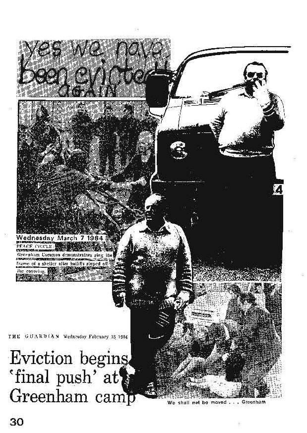 Yes we have been evicted again! (Tak, znów zostałyśmy wyrzucone!), Śpiewnik Greenham Common / Greenham Common Songbook
