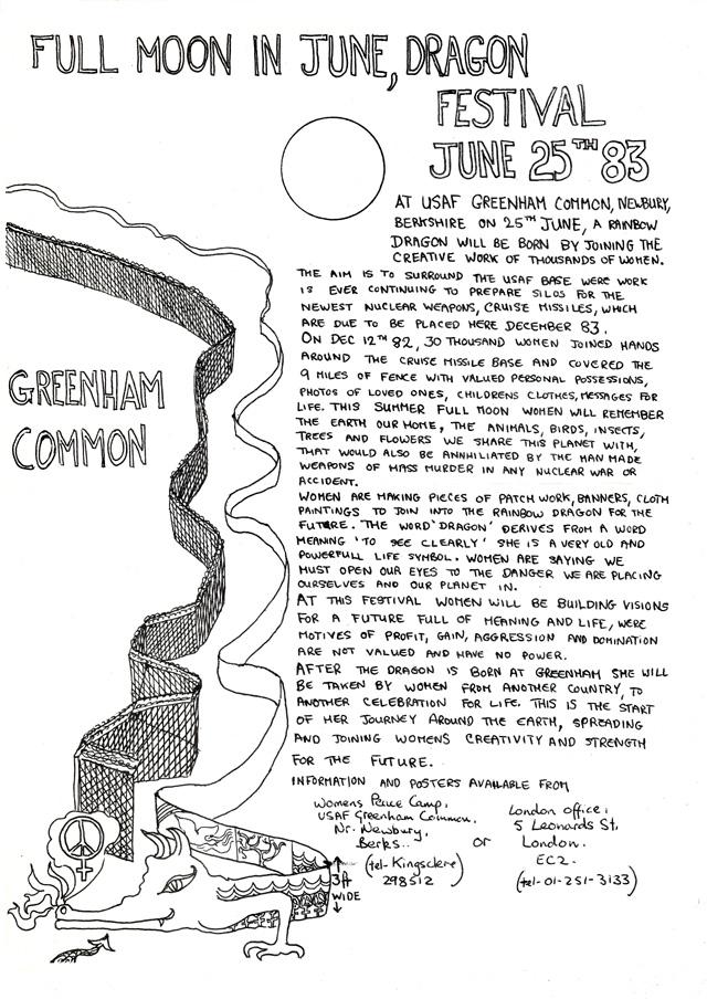 Zaproszenie na festiwal / Invitation to a festival, Mie Bak Jakobsen archive, Women for Peace