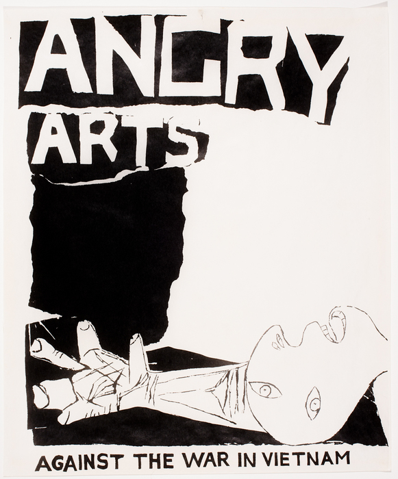 Rudol Baranik, plakat / poster for the Angry Arts Week, 1967