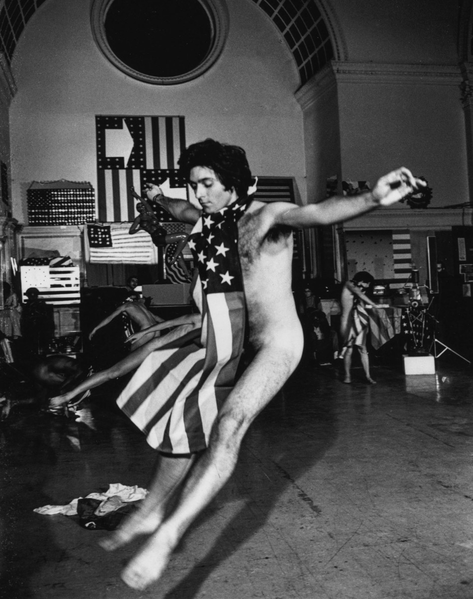 Yvonne Rainer, Trio A With Flags, People's Flag Show, 1970