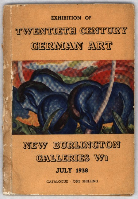 Katalog wystawy / Catalogue of the exhibition 20th Century German Art, 1938