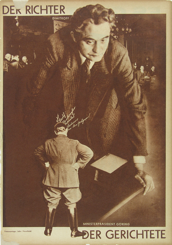 John Heartfield, Sędzia i sądzony / The Judge and the Judged, 1930