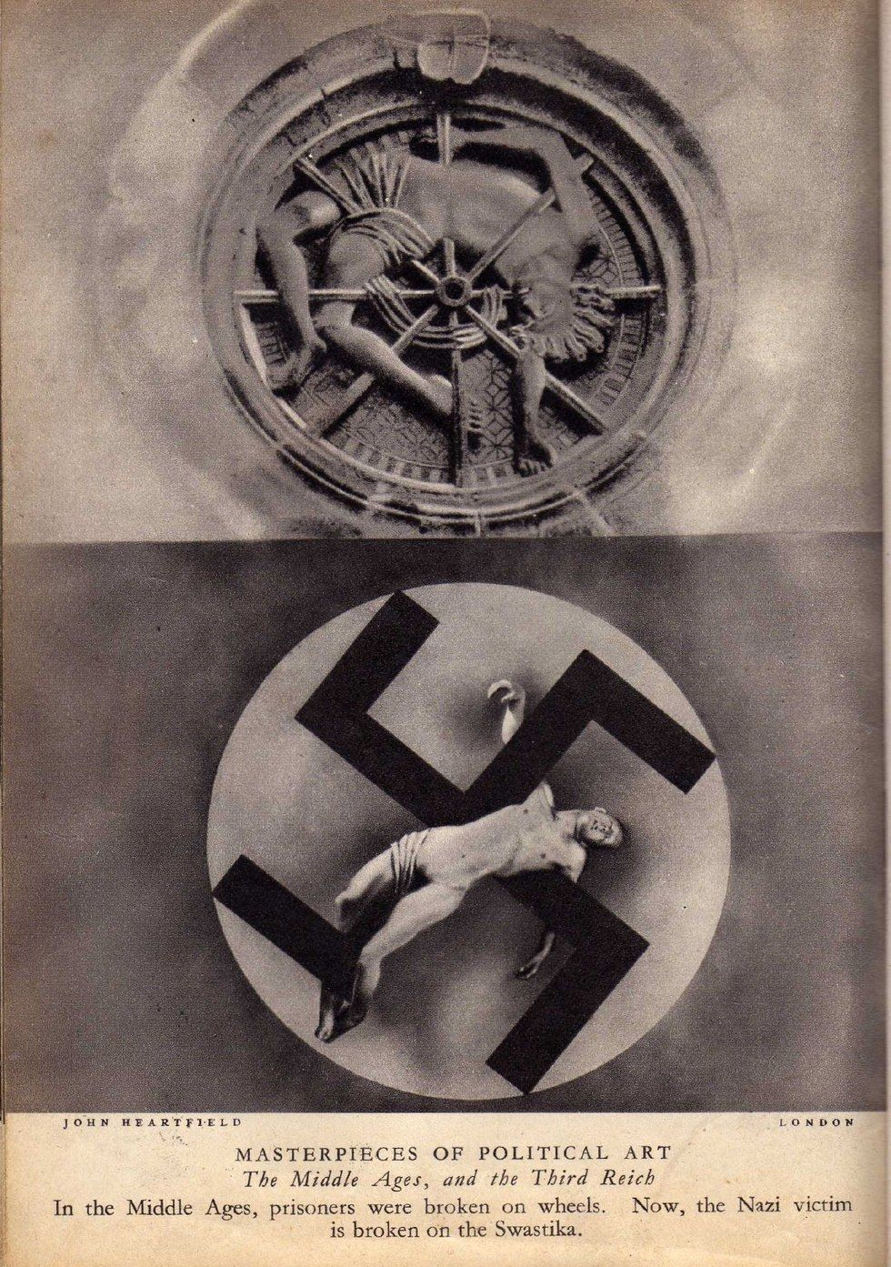 John Heartfield, Jak w średniowieczu, tak w Trzeciej Rzeczy / As in the Middle Ages, so in the Third Reich, 1934