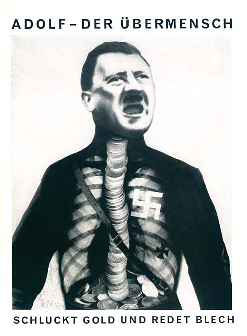 John Heartfield, Adolf Nadczłowiek / Adolf The Superman, 1932