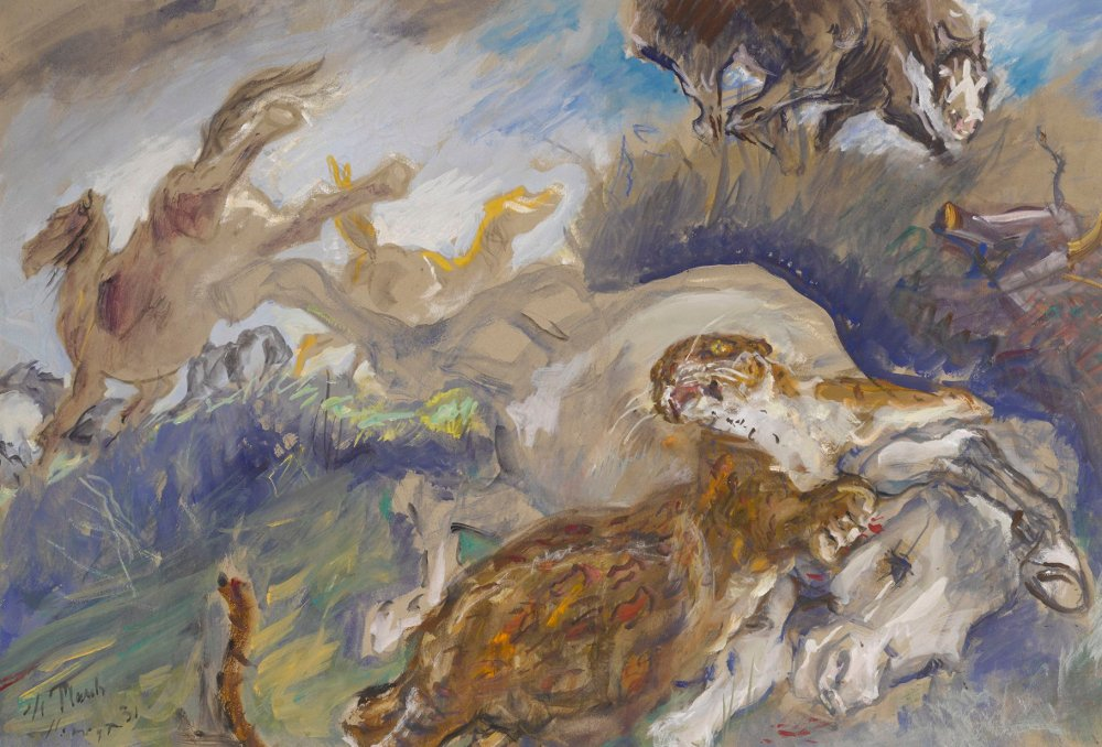 Max Slevogt, Pantera / Panther, 1931