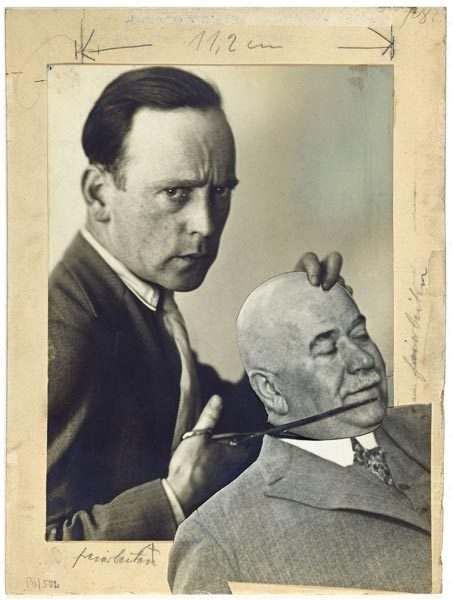 John Heartfield, Autoportret z komisarzem Zörgiebelem / Self-Portrait with the Police Commissioner Zörgiebel, 1929
