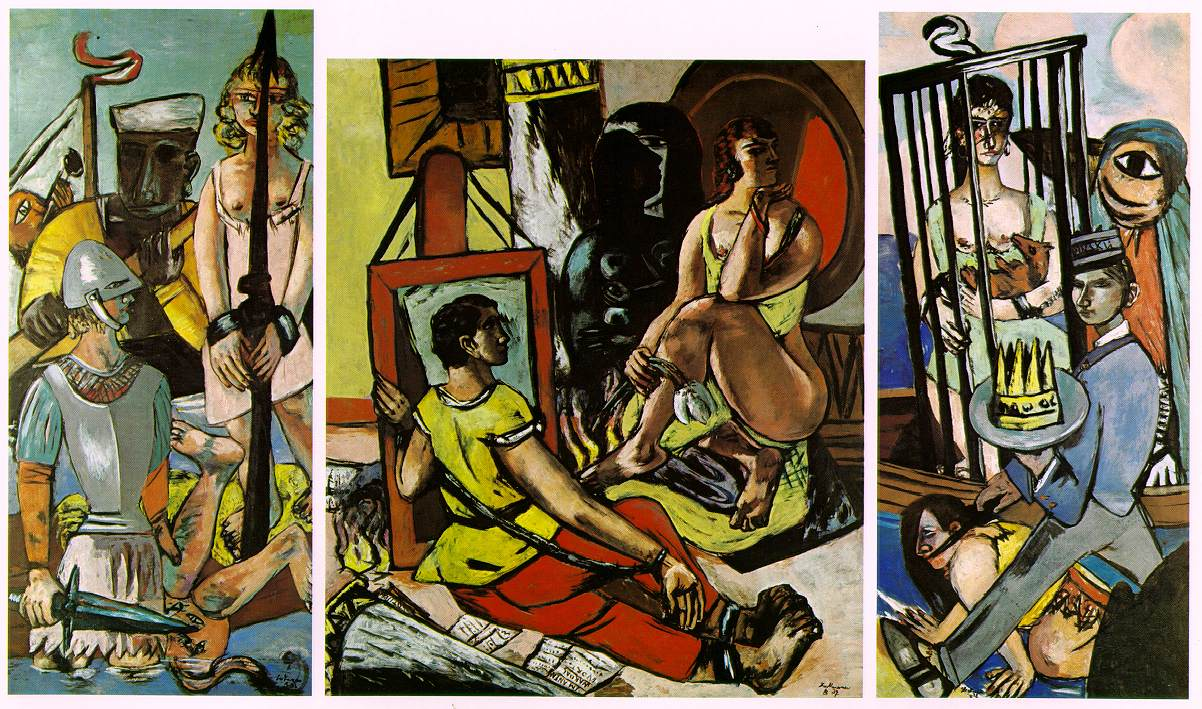 Max Beckmann, Tryptyk Kuszenie św. Antoniego / Triptych of the Temptation of St. Anthony, 1936-37