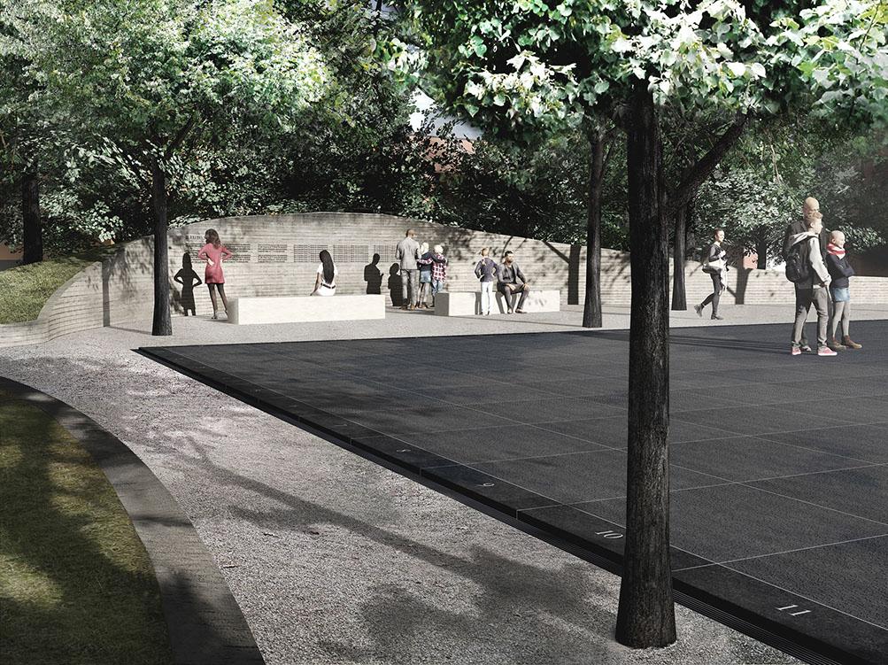 Jonas Dahlberg, projekt Memory Wound - upamiętnienie ofiar zamachów 22 lipca 2011, Oslo, 2013-2014.