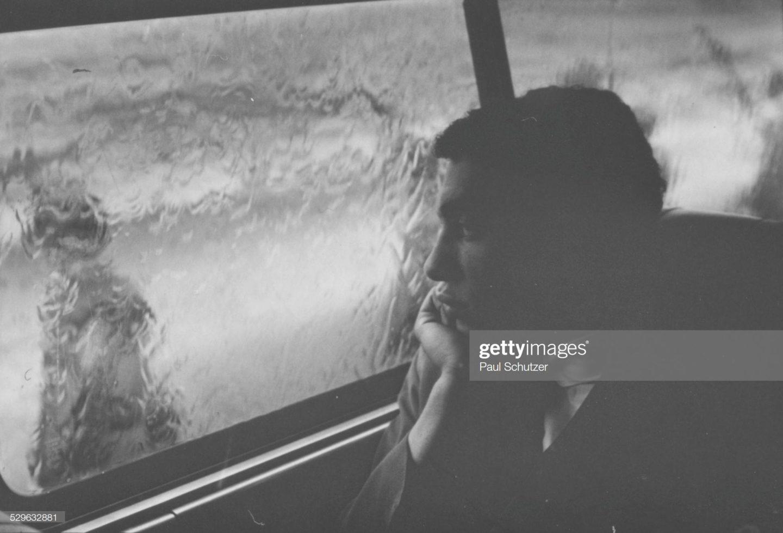 Paul Schutzer - we wnętrzu autobusu The Freedom Ride, maj 1961.