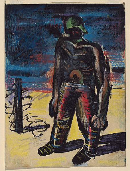 Albert Tucker, Szkic do obrazu / sketch for The Prisoner, 1942