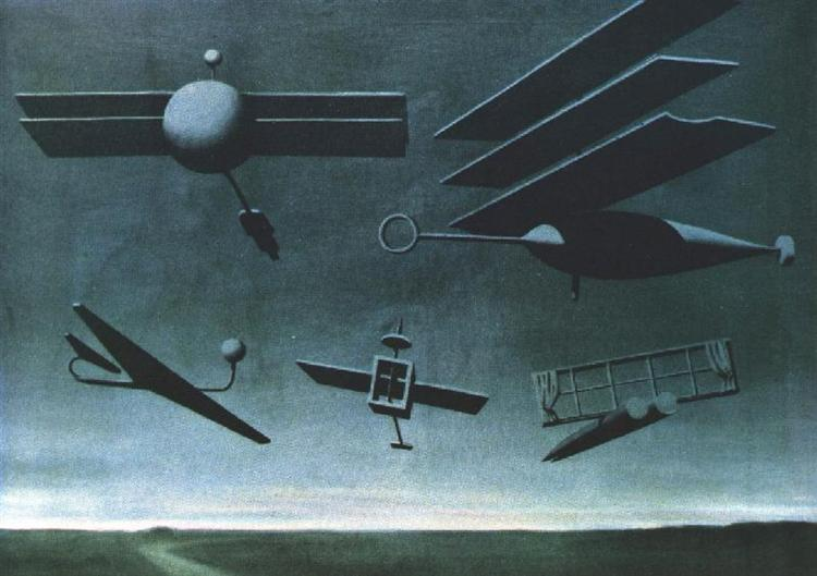 Rene Magritte, Czarna Flaga, 1937