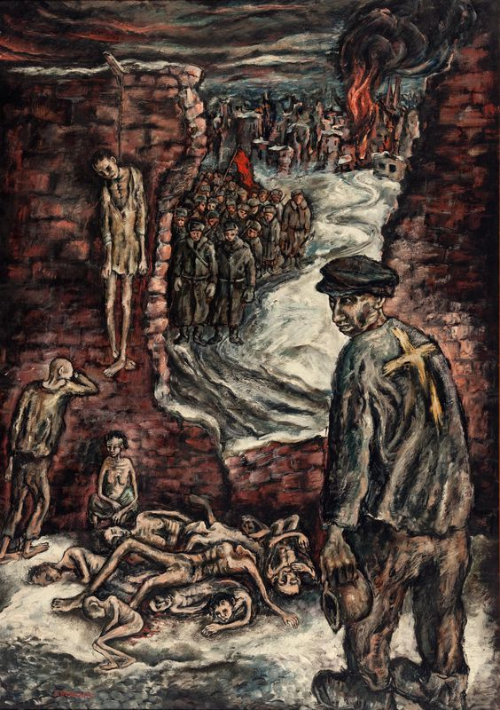 Yosl Bergner, Warsaw Ghetto 1945