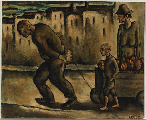 Yosl Bergner, Pumpkins, ok. / around 1942