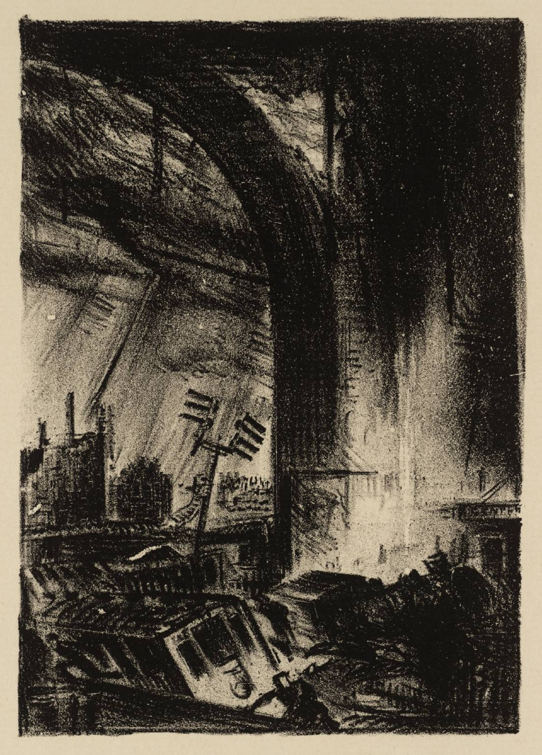 James Boswell, Waterloo, z serii Upadek Londynu / from The Fall of London series, 1933